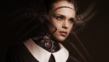 Robot Woman Face Cry Sad Artificial Intelligence